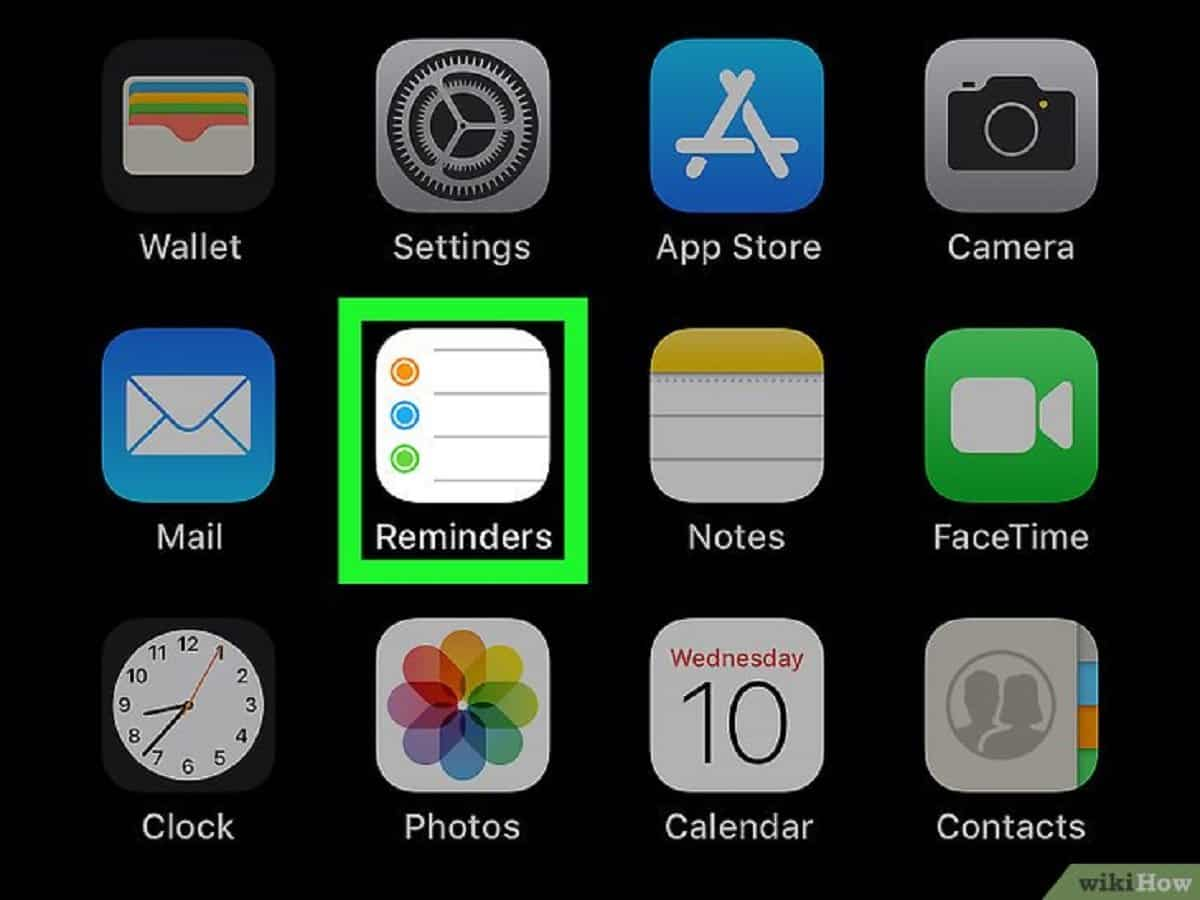 Promemoria su iPhone