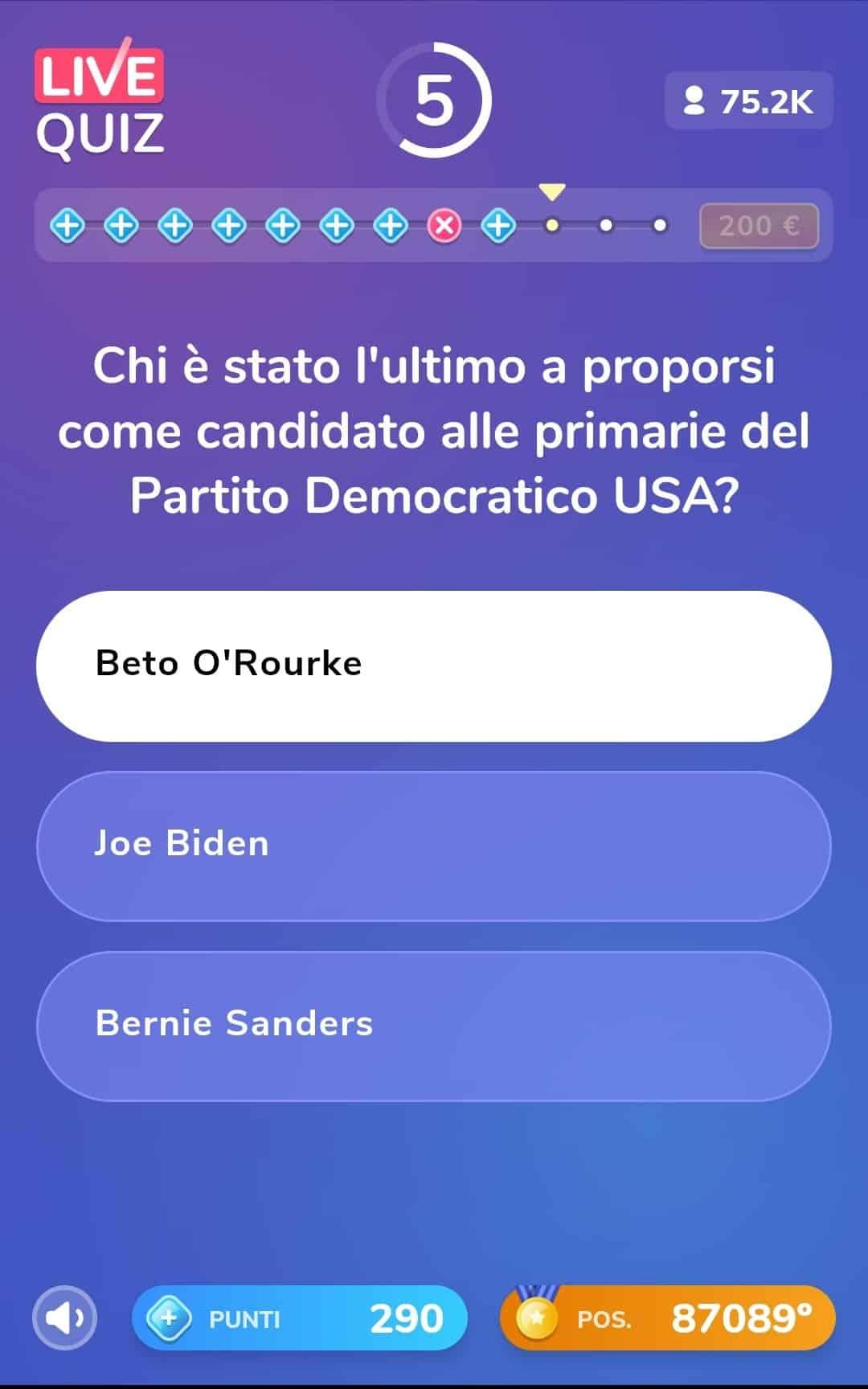 Live Quiz, l'applicazione di quiz e premi in denaro