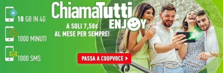 CoopVoce ChiamaTutti Enjoy a 7,50 euro al mese