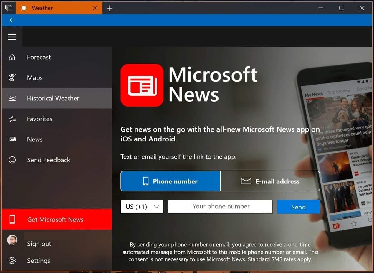 WhatsApp su Microsoft News