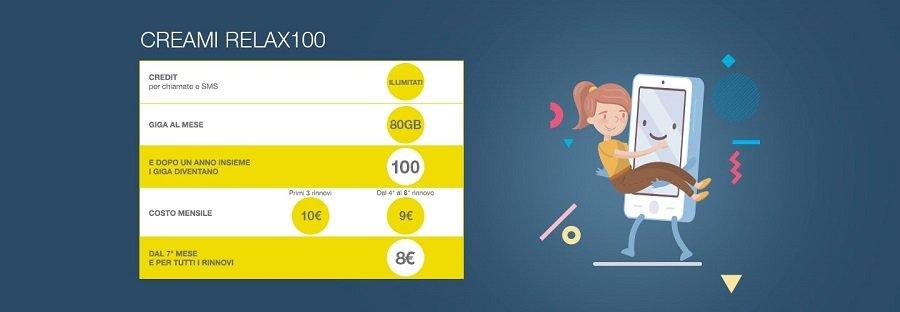 PosteMobile Creami Relax100: il prezzo scende ogni mese