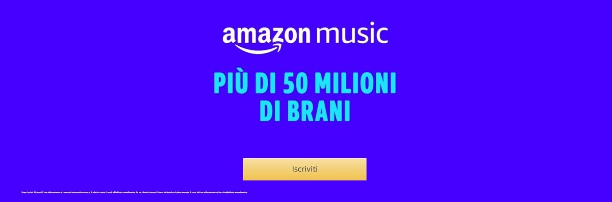 Attiva la nuova promozione di Amazon Music