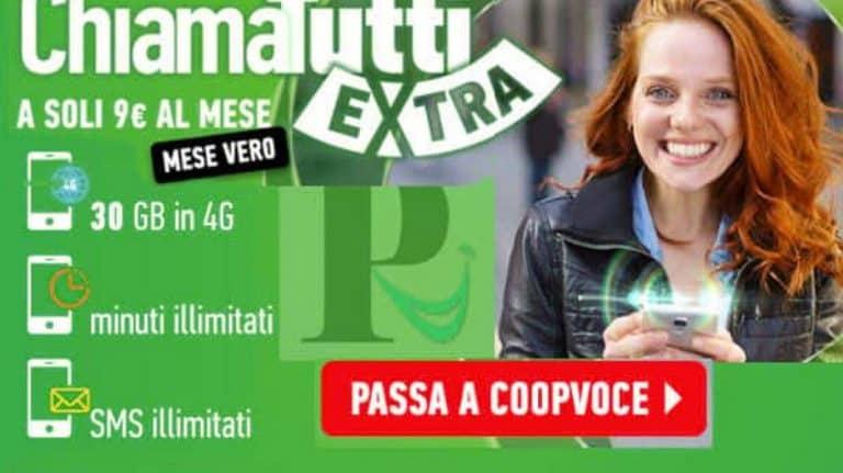 Passa a CoopVoce: ricevi 3 mesi di ChiamaTutti Extra gratis