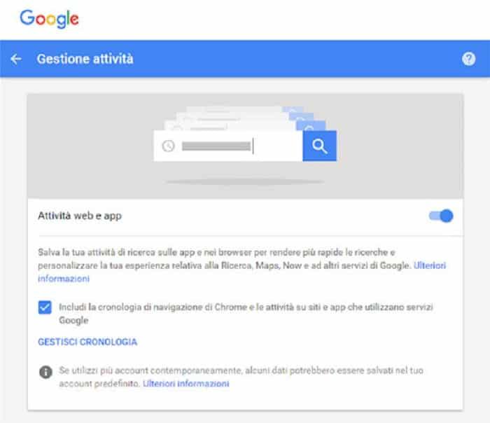 Google: attiva la cancellazione automatica dei tuoi dati