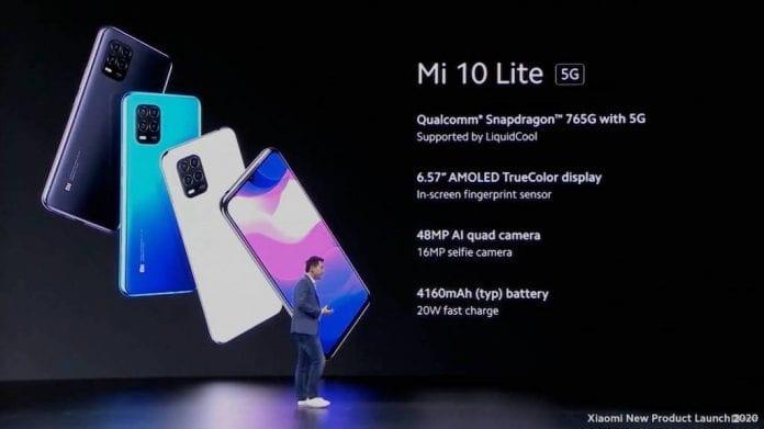 Xiaomi presenta lo smartphone Mi Note 10 Lite