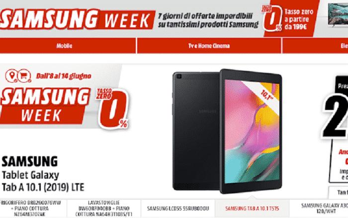 Le migliori offerte Mediaworld Samsung Week