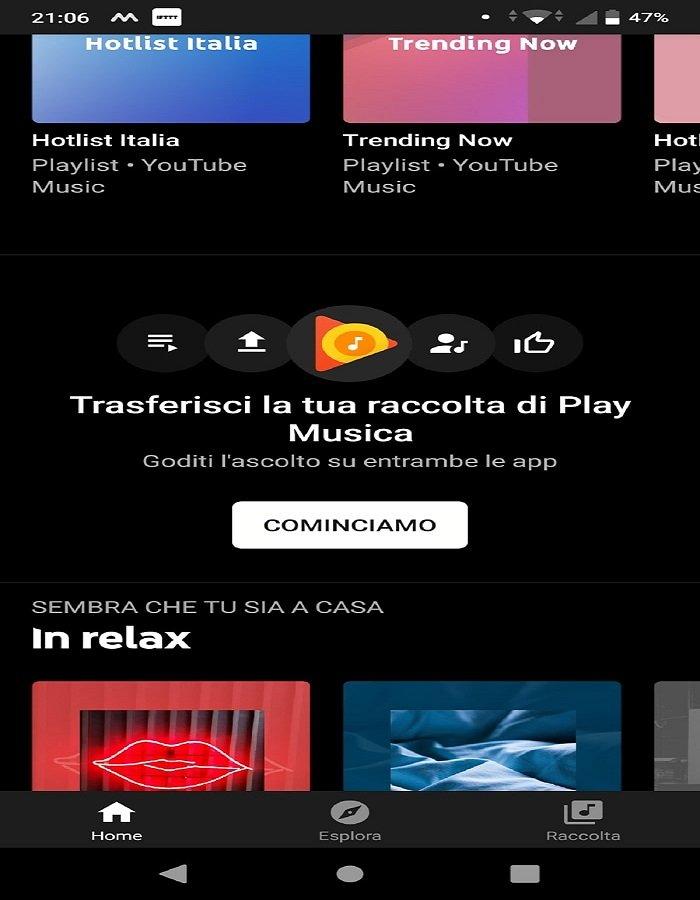 Trasferisci playlist da Google Play Music a YouTube