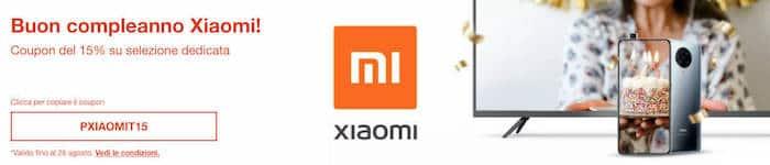 eBay: festeggia il compleanno Xiaomi con coupon del 15%