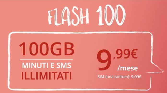 Offerta Iliad a tempo a 10 euro 100 GB