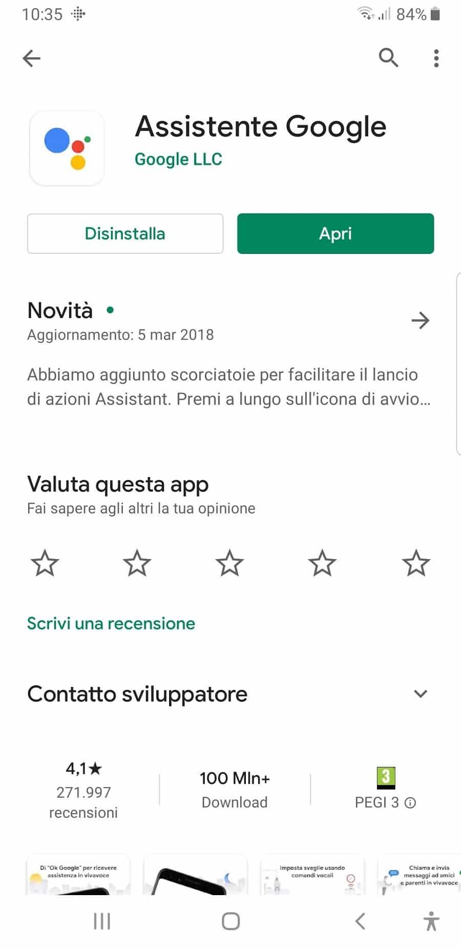 Sostituire Samsung Bixby con Assistente Google