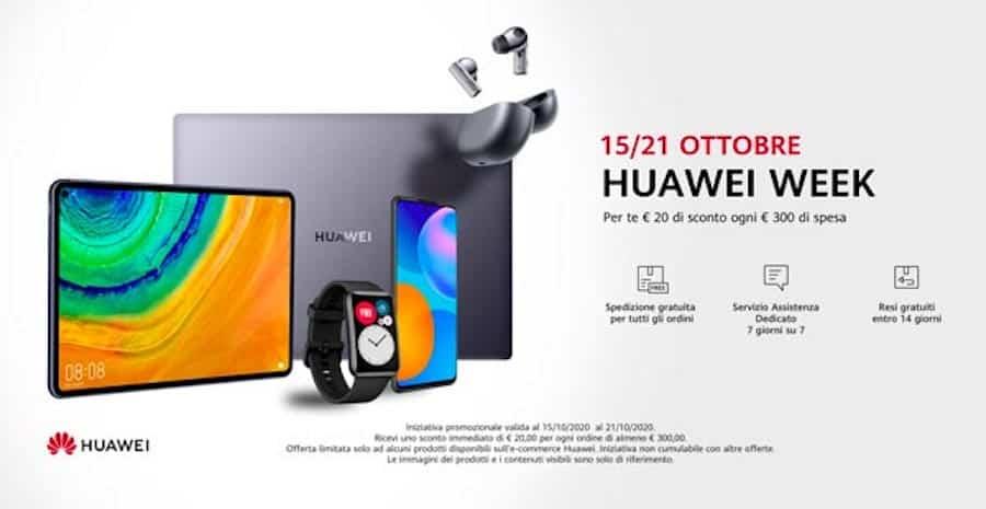 Al via la Huawei Week di offerte sullo store ufficiale