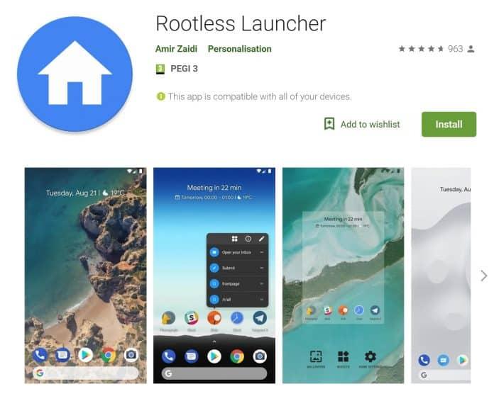 Dai un look Pixel al tuo smartphone con Rootless Launcher