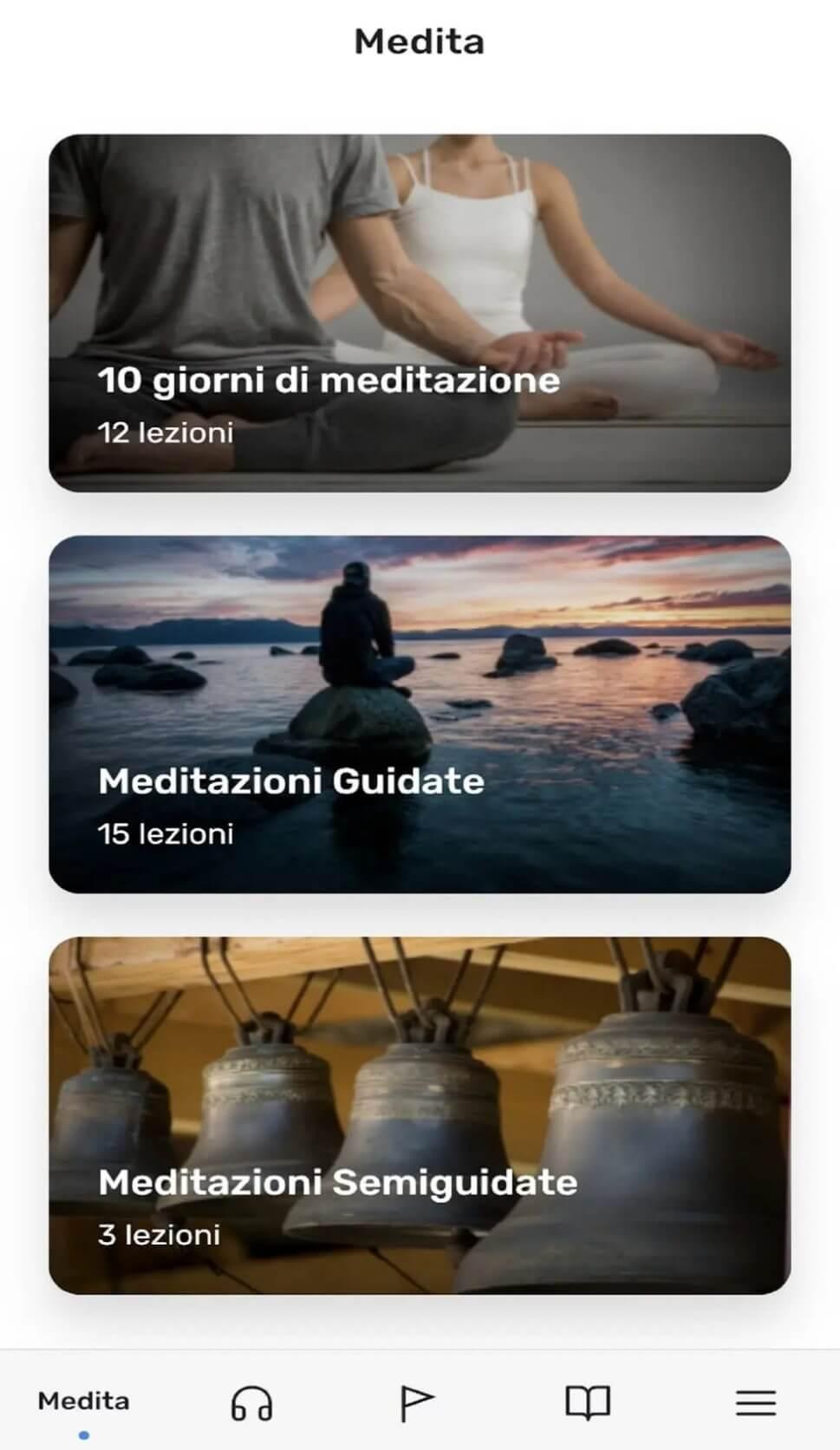 esercizi di meditazione e rilassamento dell'app clarity
