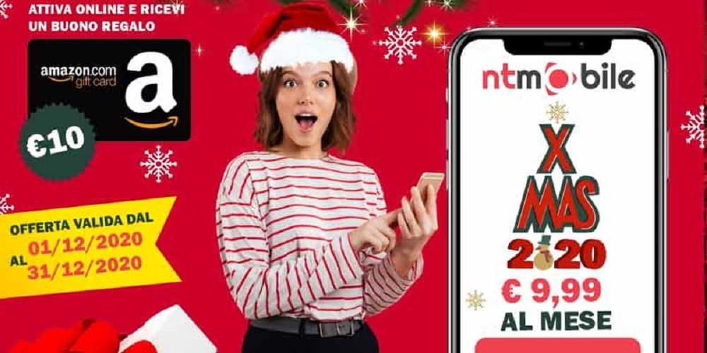 NTmobile XMAS: minuti/SMS illimitati e tanti GB