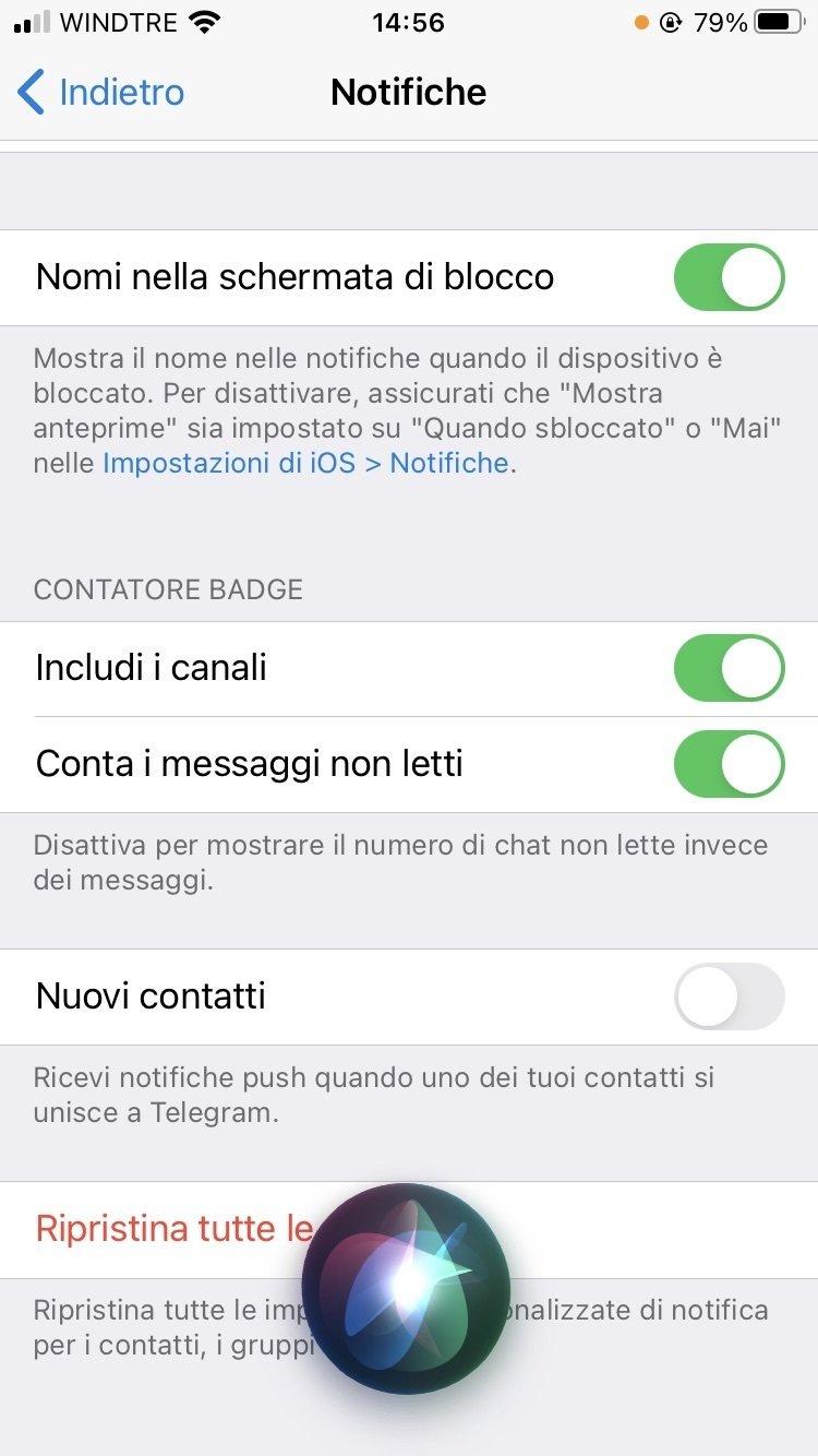 Telegram, come disattivare la notifica dei nuovi contatti
