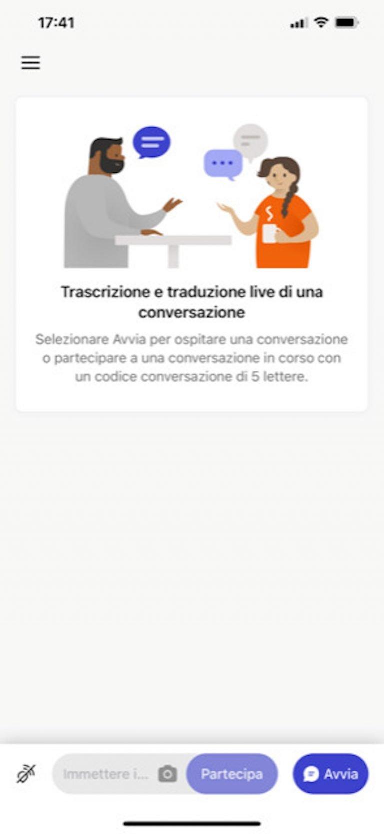 L'app Microsoft Group Transcribe trascrive e traduce in tempo reale