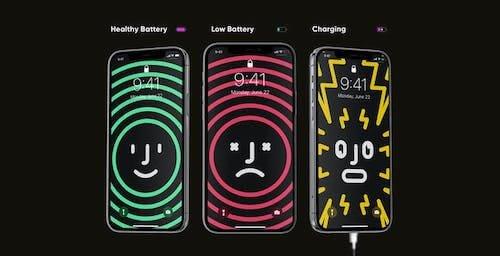 iPhone: designer crea sfondi con la carica della batteria