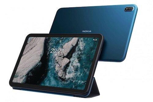 Parte frontale e retro del tablet Nokia T20